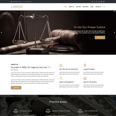 Preview image of Lawyer Firm - Premium
