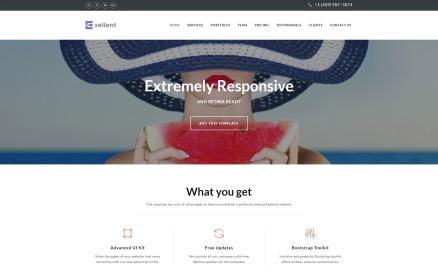 Exellent - Startup with Built-In Novi Builder Landing Page Template