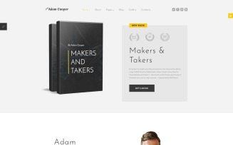 Adam Cooper - Writer Joomla Template