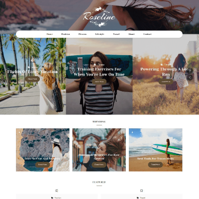 Modeblogg WordPress-tema