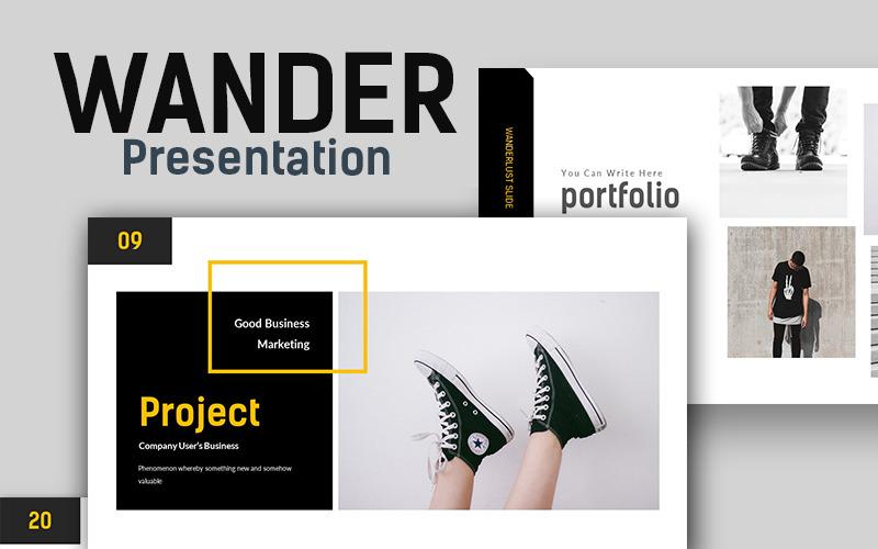 Wander Creative Presentation PowerPoint Template