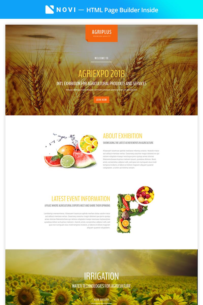 Agriplus - Impressive Agriculture Exhibition with Built-In Novi Builder №67554 - скриншот