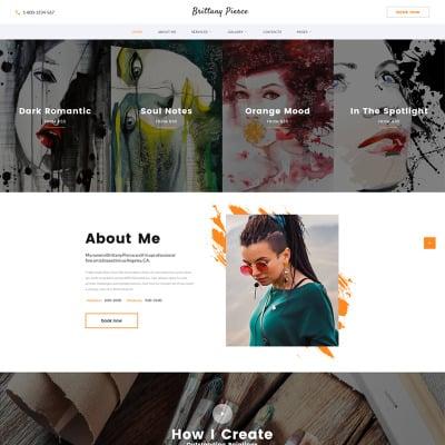 Artist Portfolio Website Templates
