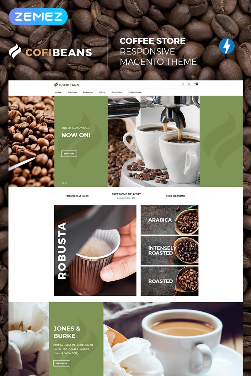 """CofiBeans - AMP Coffee Shop"" thème Magento adaptatif #67581"