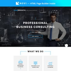 Business landing page templates templatemonster corporational business consulting with built in novi builder premium landing page flashek Image collections
