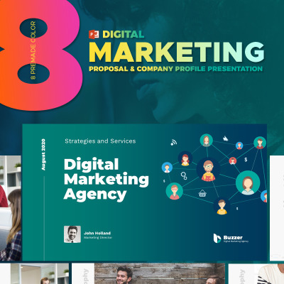 Digital Marketing Agency Powerpoint Template 67593