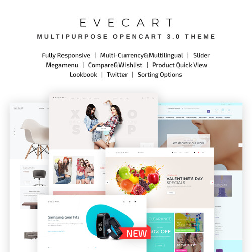 Evecart - Amazing Fashion Store - OpenCart Template based on Bootstrap