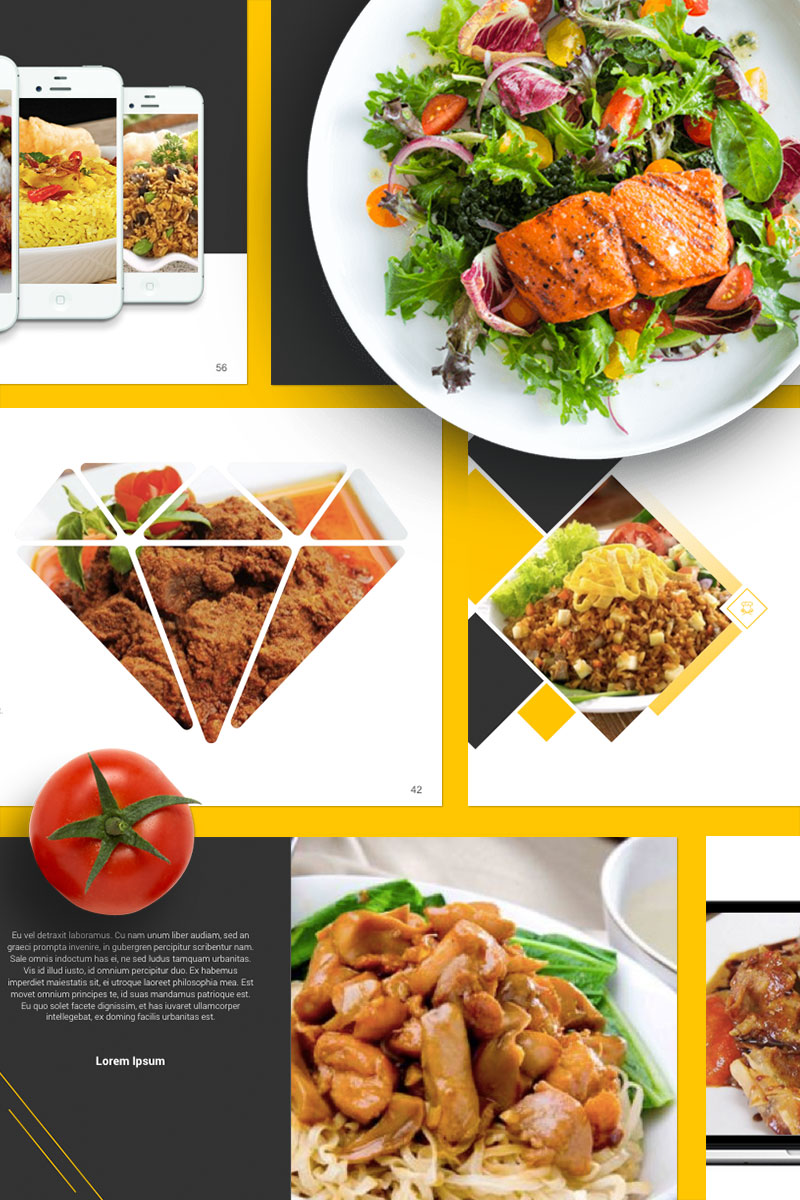 """Food Presentation"" modèle PowerPoint  #67553"