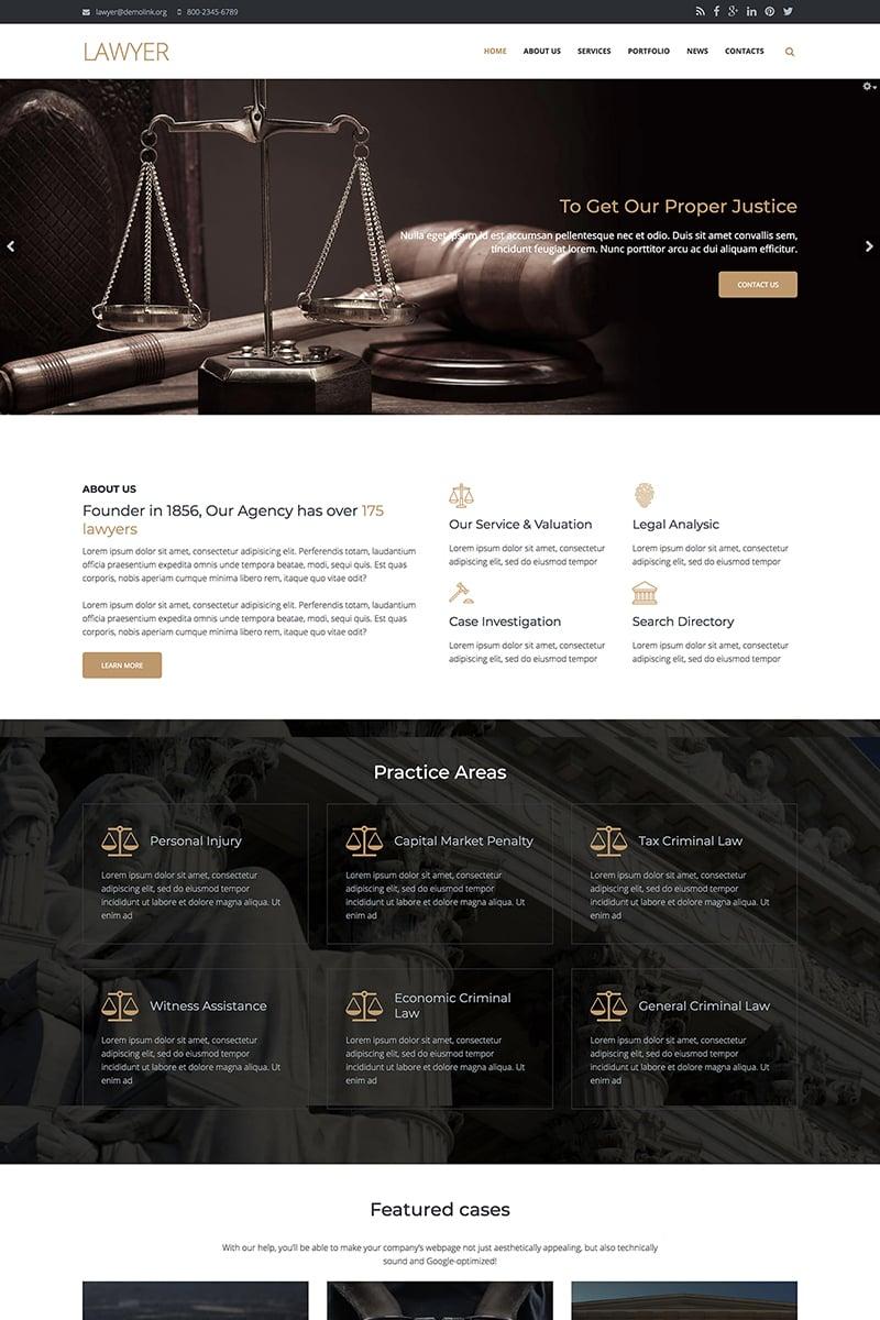 """Lawyer Firm - Premium"" Drupal模板 #67569"