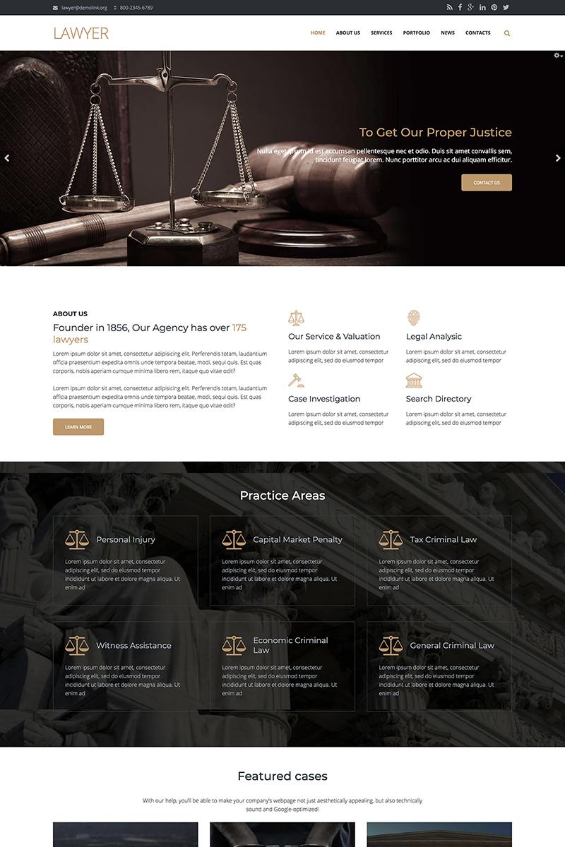 """Lawyer Firm - Premium"" - Drupal шаблон №67569"