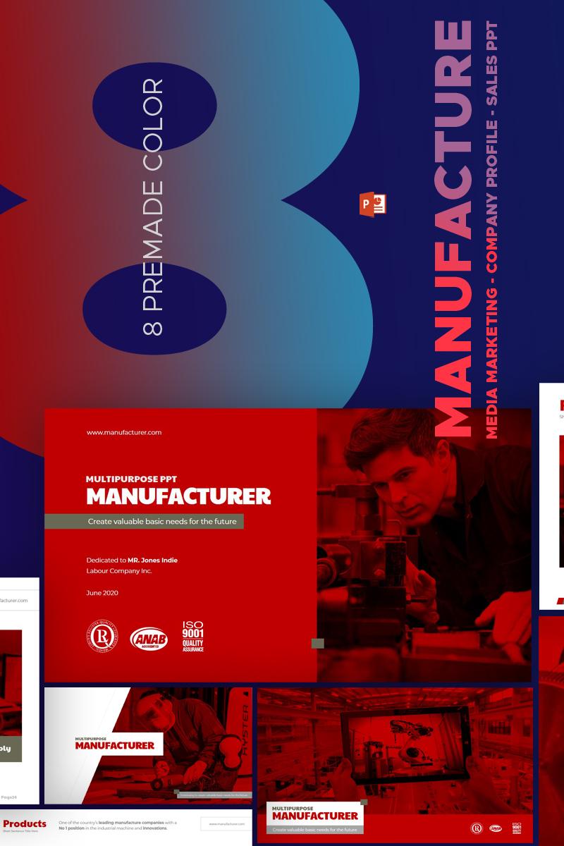 Manufature - PowerPoint sablon 67588