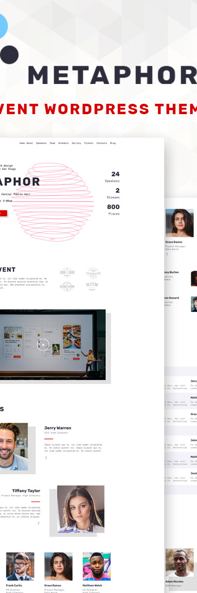 Metaphor - Event Planner WordPress Theme