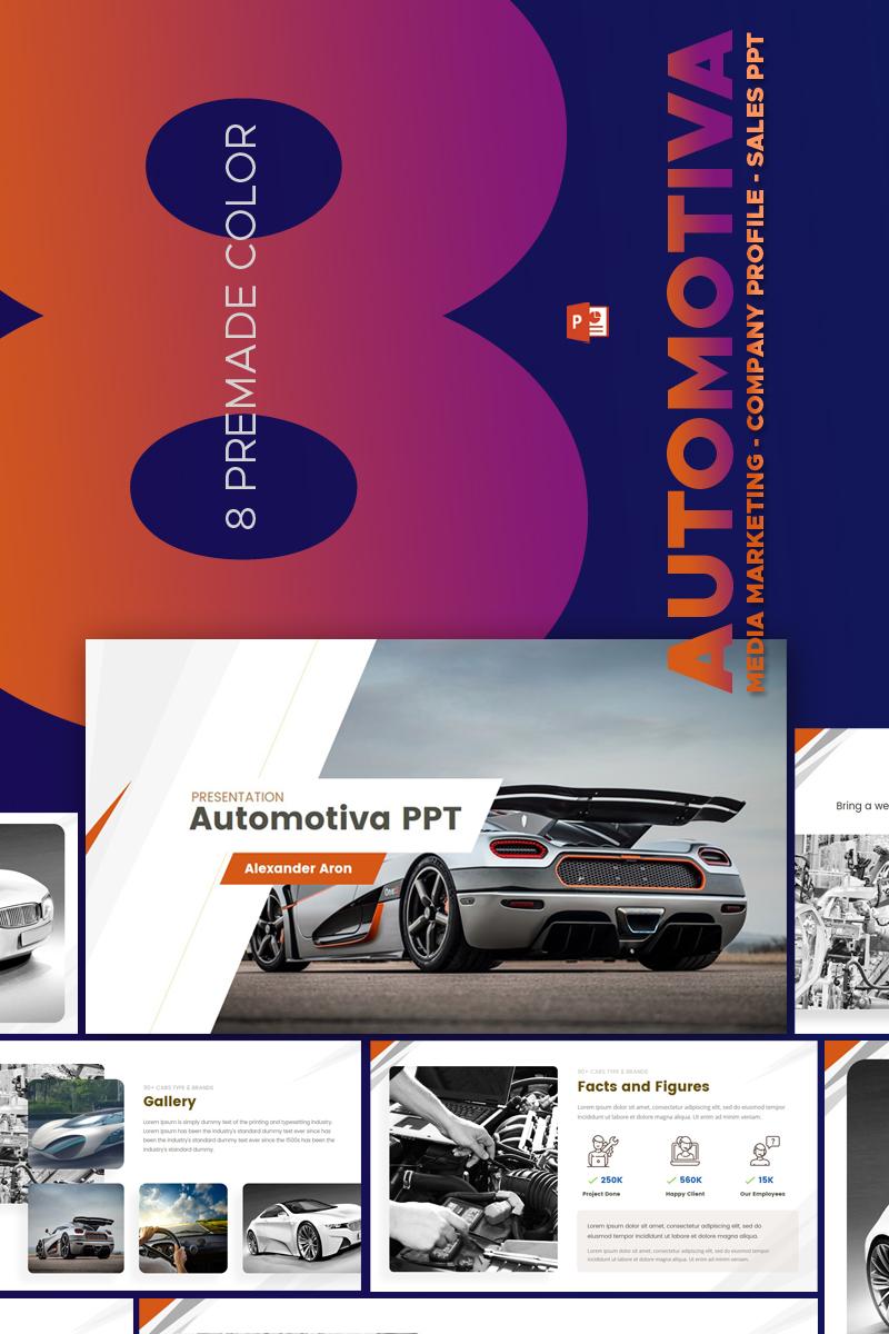"""PowerPoint Vorlage namens """"Automotiva -"""" #67587"""