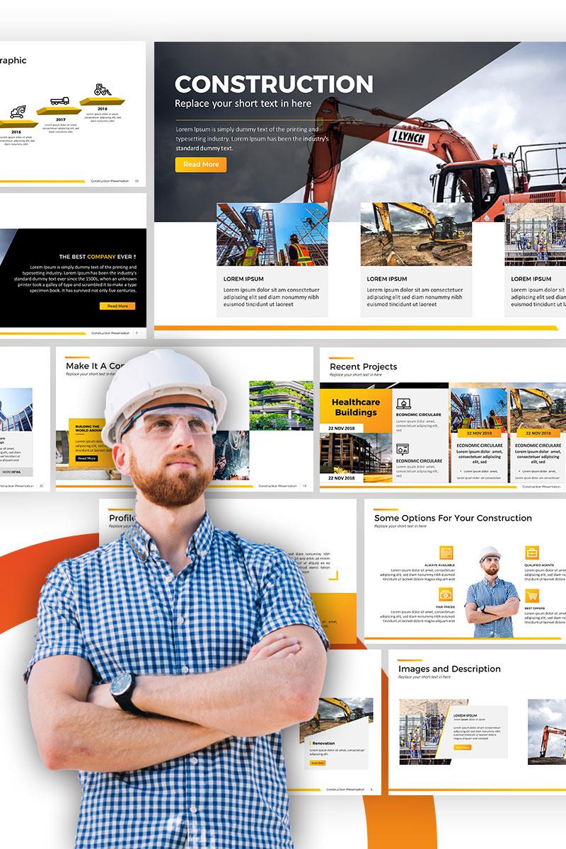 """PowerPoint Vorlage namens """"Construction -"""" #67591"""