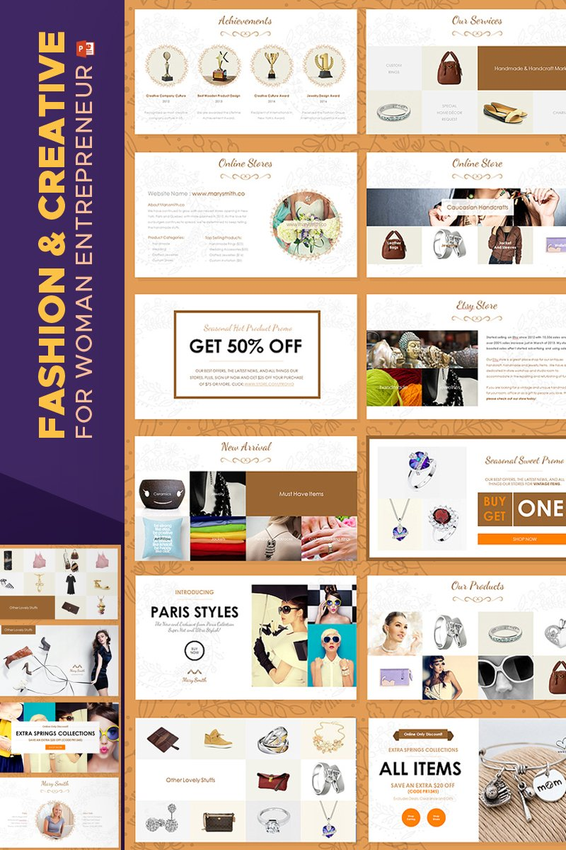 "PowerPoint Vorlage namens ""Fashion & Creative Catalogue -"" #67597 - Screenshot"