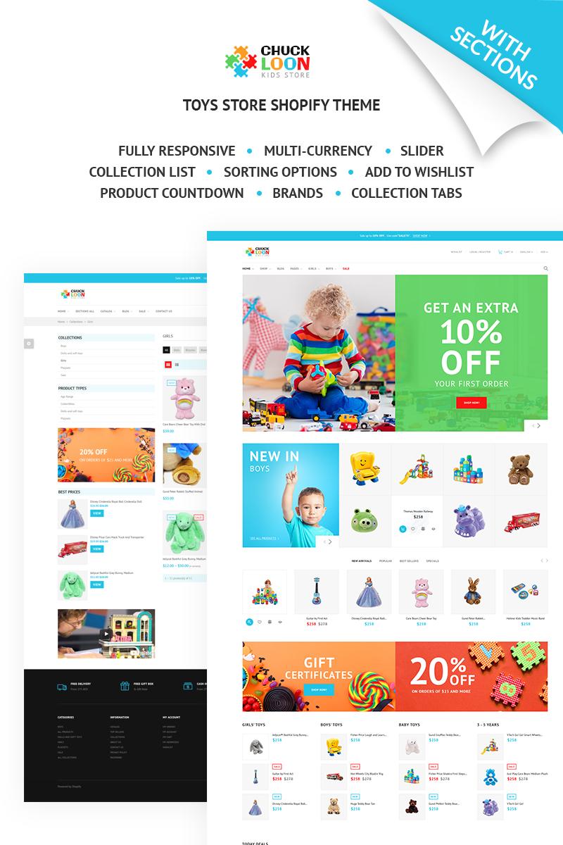 Responsywny szablon Shopify Chuck Loon - Responsive Toys & Children Clothes Online Store #67583