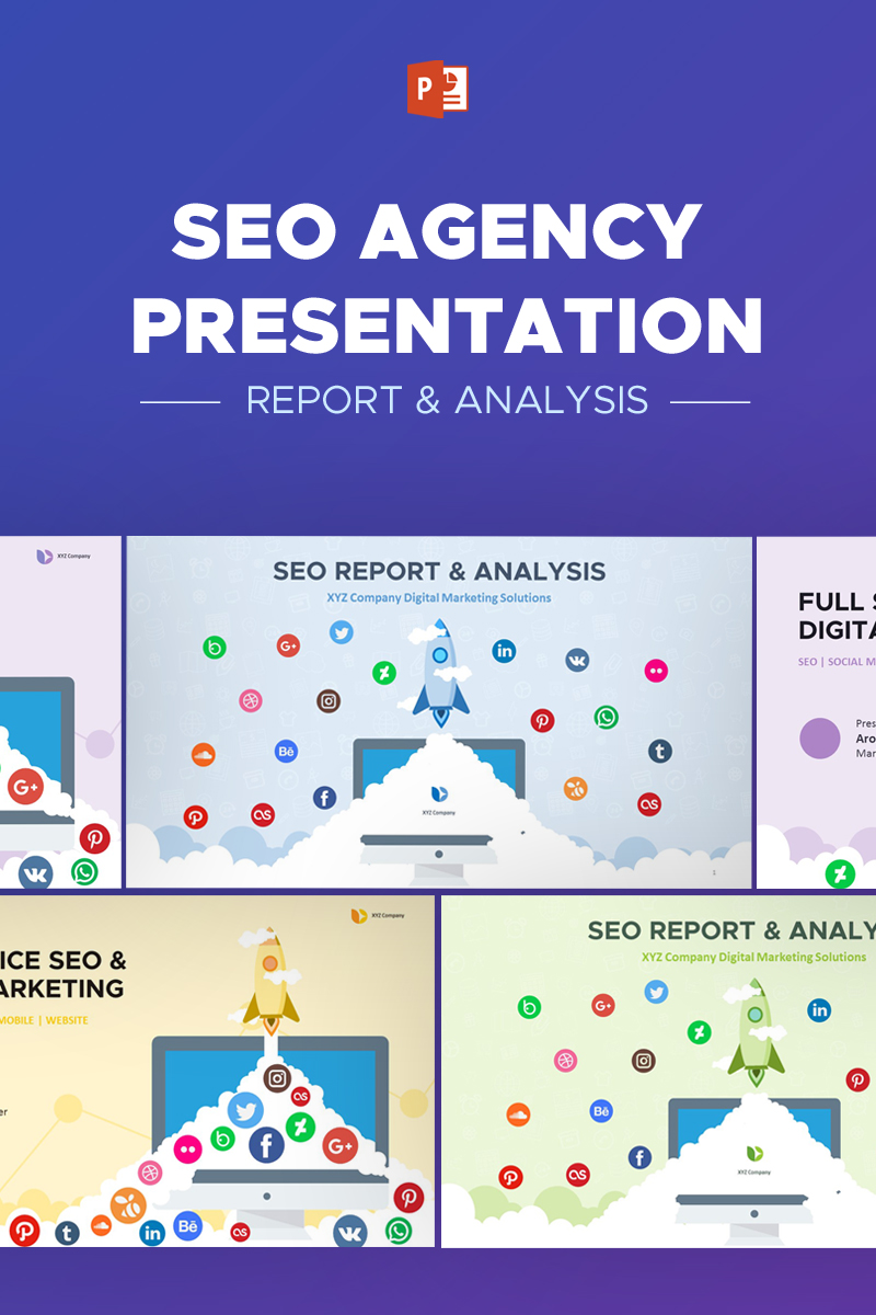 SEO Agency Report & Analytic - PowerPoint Template