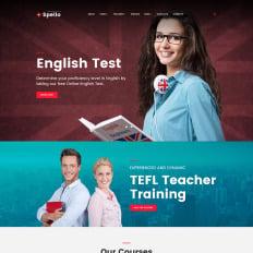 Spellolite Language School Responsive WordPress Theme 67570 Free