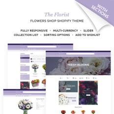 Flower Shop Shopify Themes | TemplateMonster