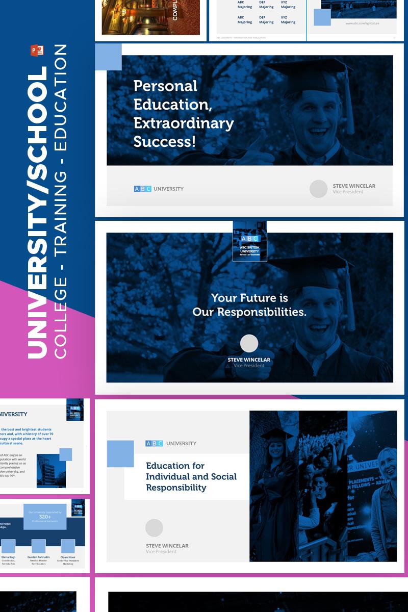 """University Education -"" PowerPoint 模板 #67599"