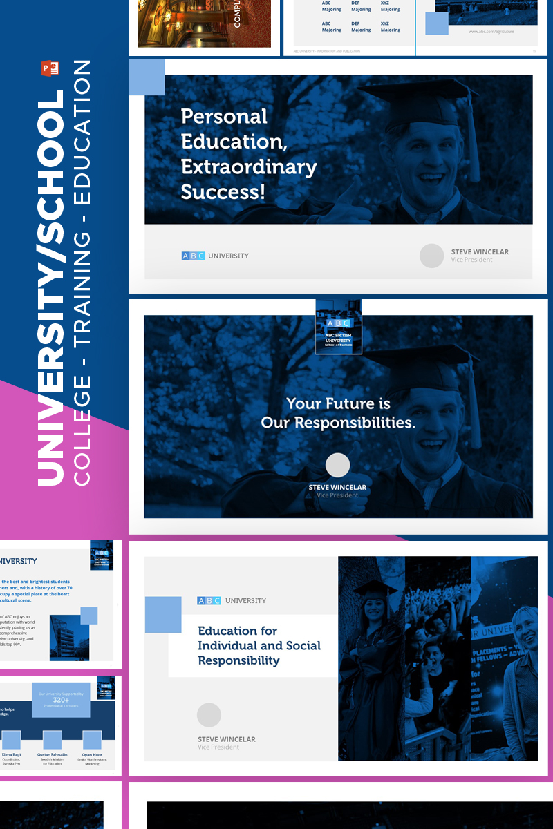 """University Education -"" PowerPoint Template №67599"