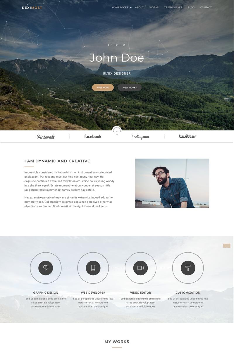 "Website Vorlage namens ""Reximost - Personal Portfolio HTML"" #67578"