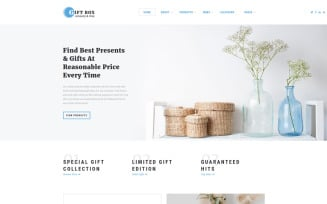Gift Box - Gift Shop Multipage HTML5 Website Template