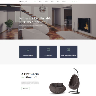 Preview image of Interior Decor - Interior Design Multipage HTML5