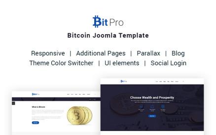 BitPro - Bitcoin Joomla Template