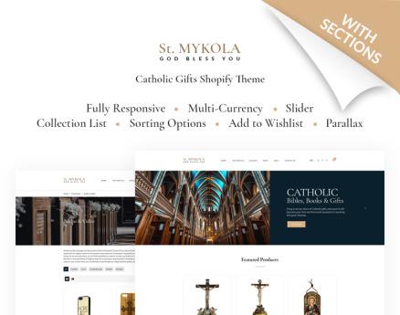 St.Mykola - Catholic Store Shopify Theme