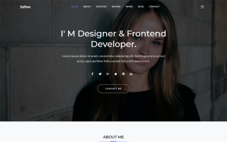 Selfme - Responsive Bootstrap 4 Personal