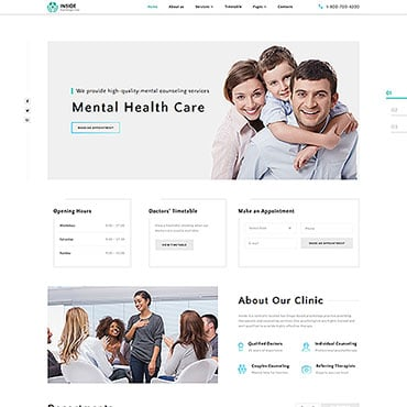 Preview image of Inside - Psychology Clinic Multipage HTML5