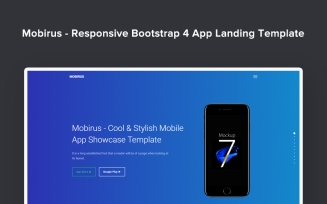 Mobirus - Responsive Bootstrap 4 App Landing Page Template