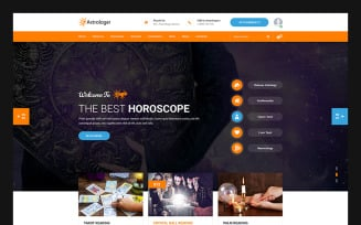 Astrologer - Astrology and Numerology HTML Website Template