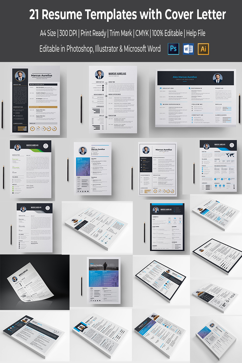 Compact Mega Resume Template