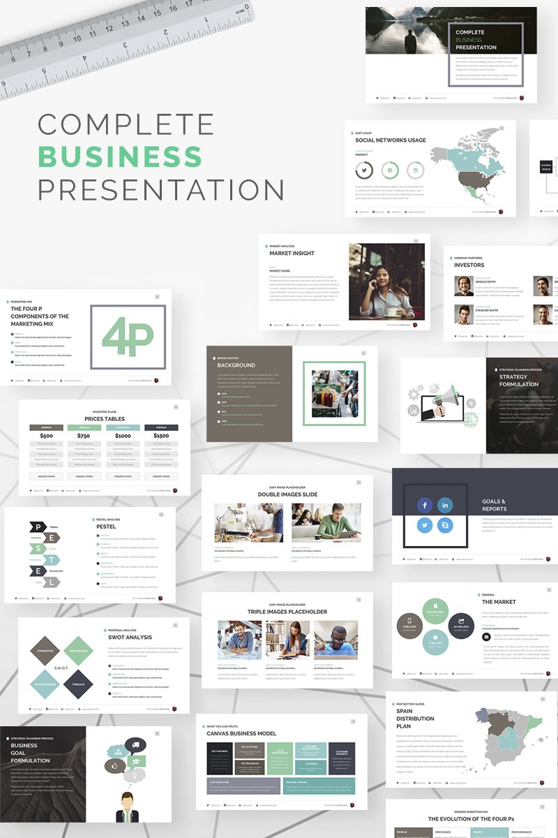 complete business keynote template  67609
