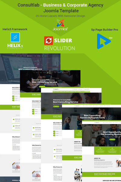 Consultlab - Business & Corporate Agency Template Joomla №67623 #67623