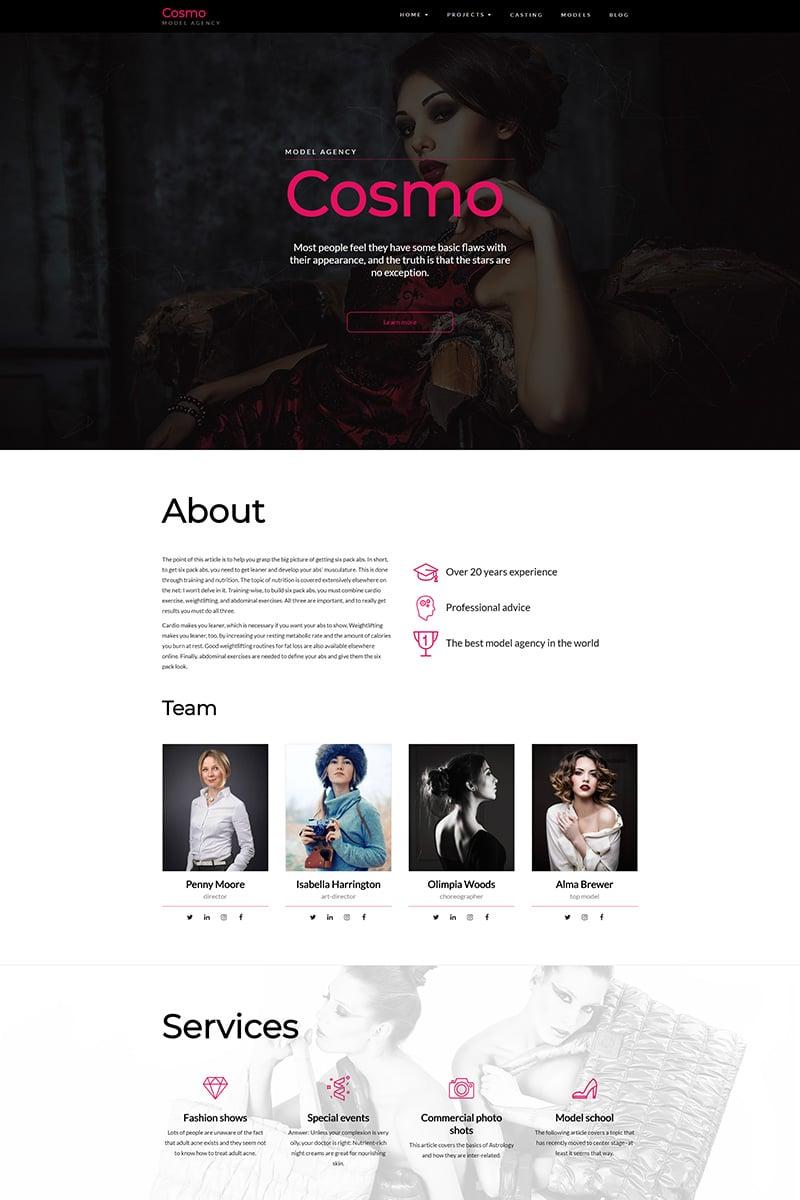 """Cosmo - Model Agency"" WordPress模板 #67606"