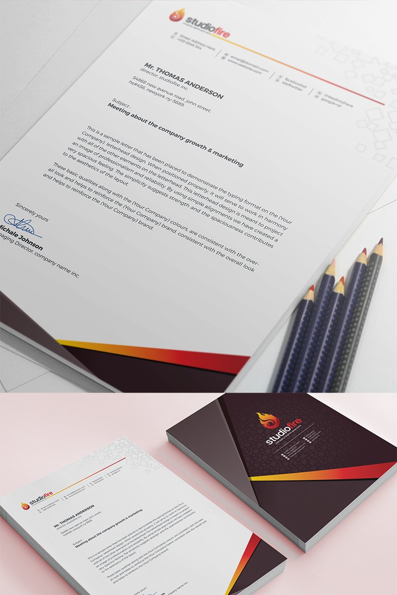 Creative letterhead template corporate identity template 67653 thecheapjerseys Image collections