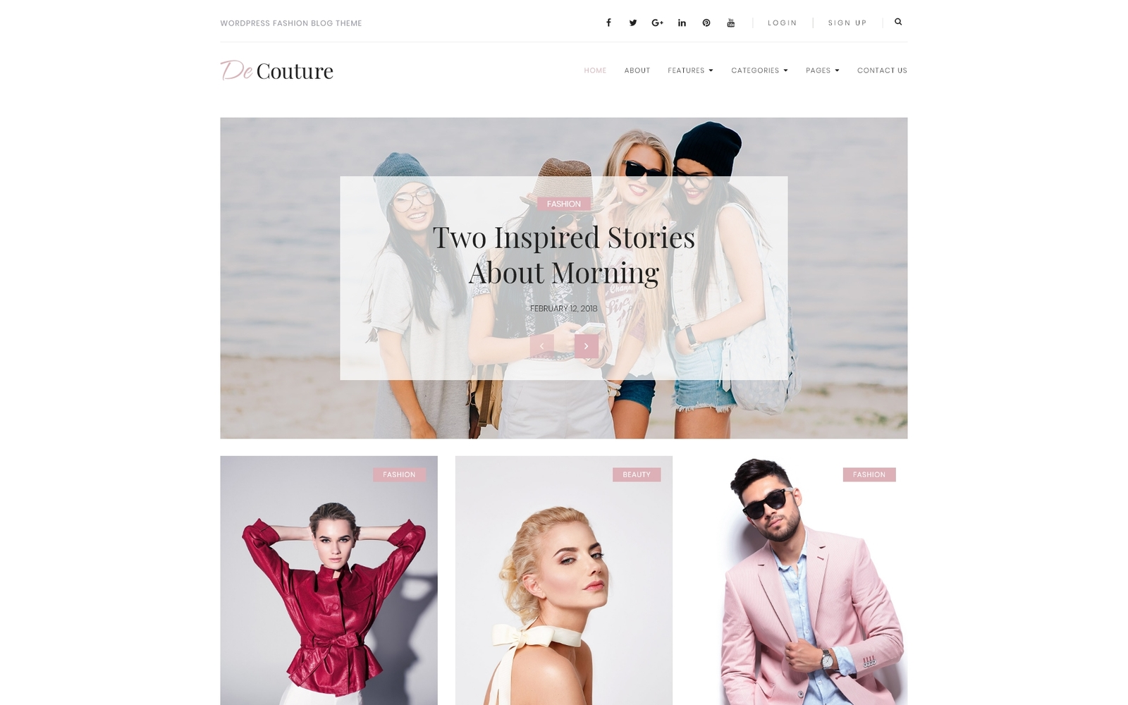 De Couture - Fancy Fashion & Beauty Blog WordPress Theme - screenshot