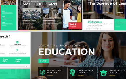 Education - Presentation PowerPoint template PowerPoint Template