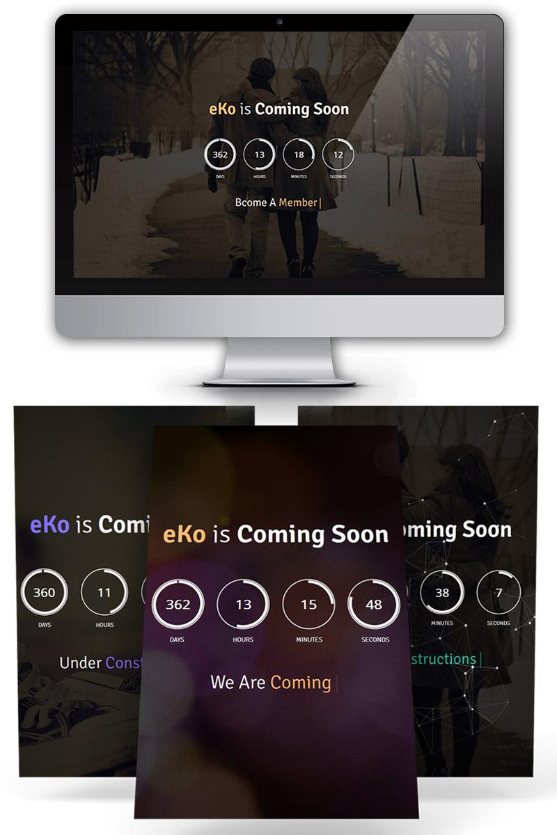 """""""eKo Coming Soon"""" page de spécialité  #67618"""