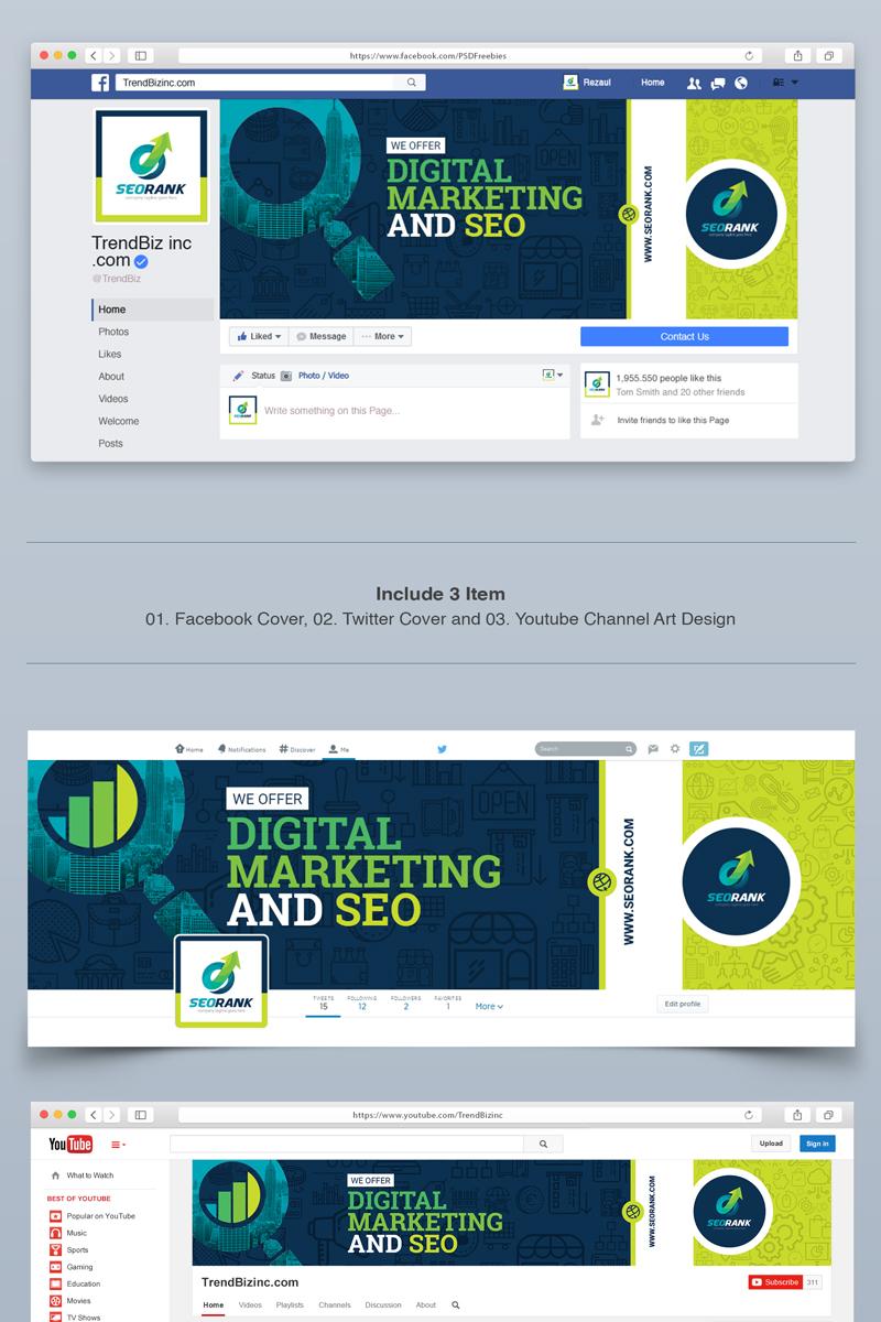 """Facebook Cover, Twitter Cover, YouTube Channel Art Design"" - Шаблон для соцмереж №67676"