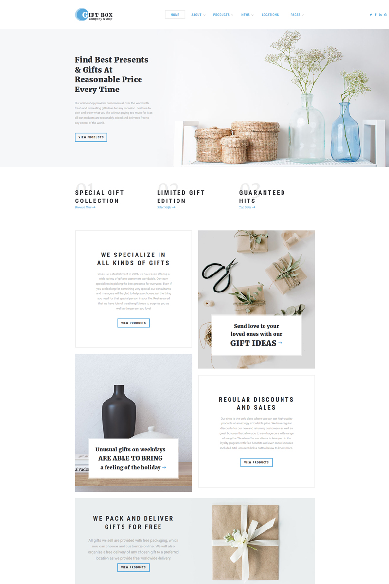 Gift Box - Gift Shop Multipage HTML5 Website Template - screenshot
