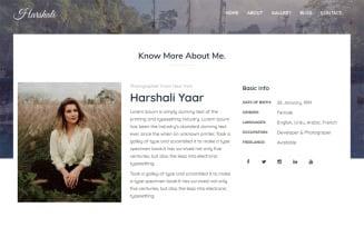 Harshali - FullScreen Photography Website Template