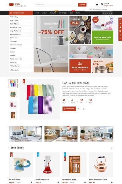 İç Dekorasyon ve Mobilya  Opencart Şablon #67641
