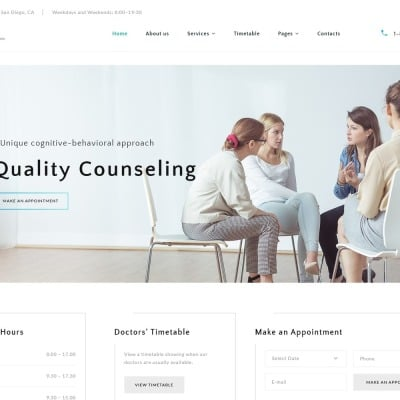 Inside - Psychology Clinic Multipage HTML5 Website Template #67685
