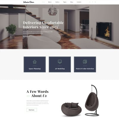 48 Best Interior Design Website Templates Cool Interior Design Web Templates