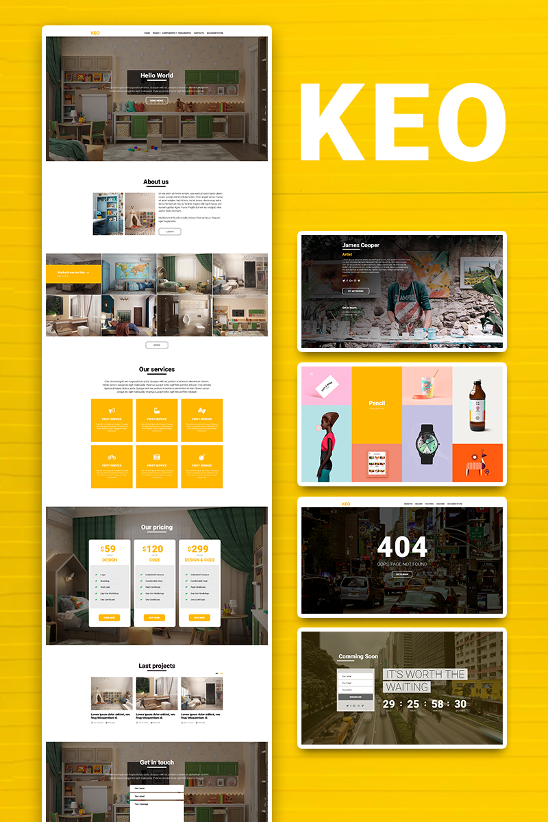 KEO - 16 in 1 Powerful Complex Multipurpose WordPress Theme - screenshot