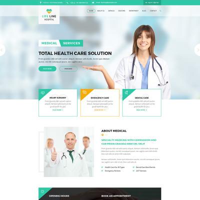 Life Line Hospital and Health Website Template #67698